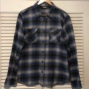 Vans Off The Wall Plaid 100% Cotton Casual Shirt.